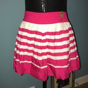 Hollis yet pink white striped flowy mini skirt